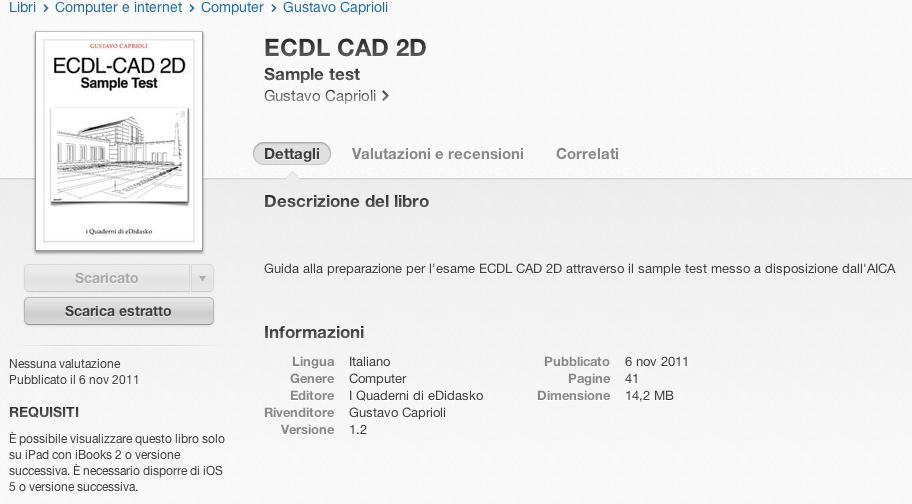 iTunes ECDL CAD